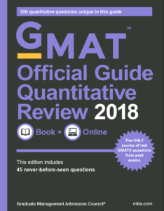 2018 GMAT Quant Official Guide