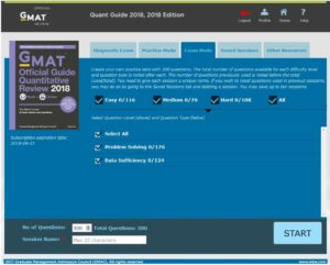 2018 GMAT Quant Official Guide Online Interface
