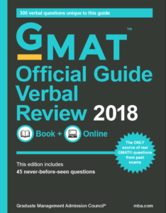 2018 GMAT Verbal Official Guide