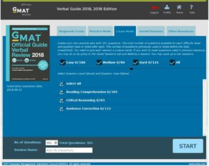 2018 GMAT Verbal Official Guide Online Interface